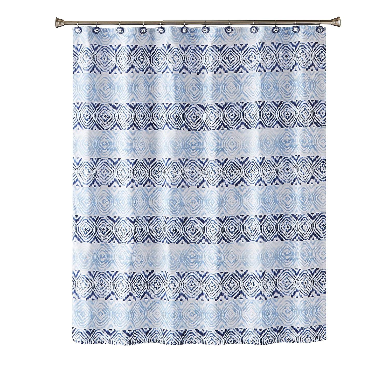 Amazon SKL Home By Saturday Knight Ltd Kali Diamond Shower Curtain Fabric Blue Kitchen
