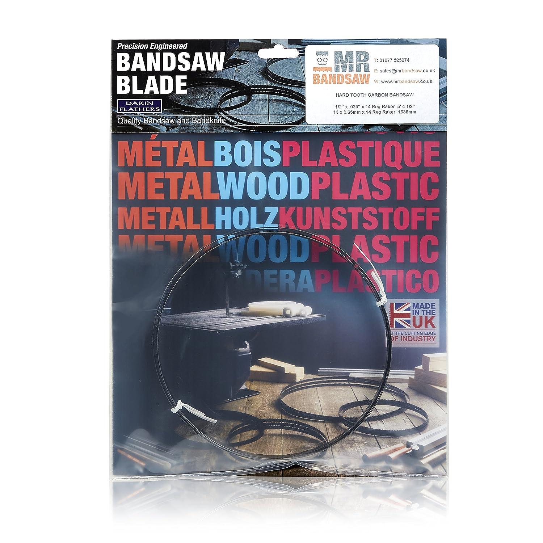 60 x 1//4 x .014 x 14 Reg Raker Bandsaw Blade