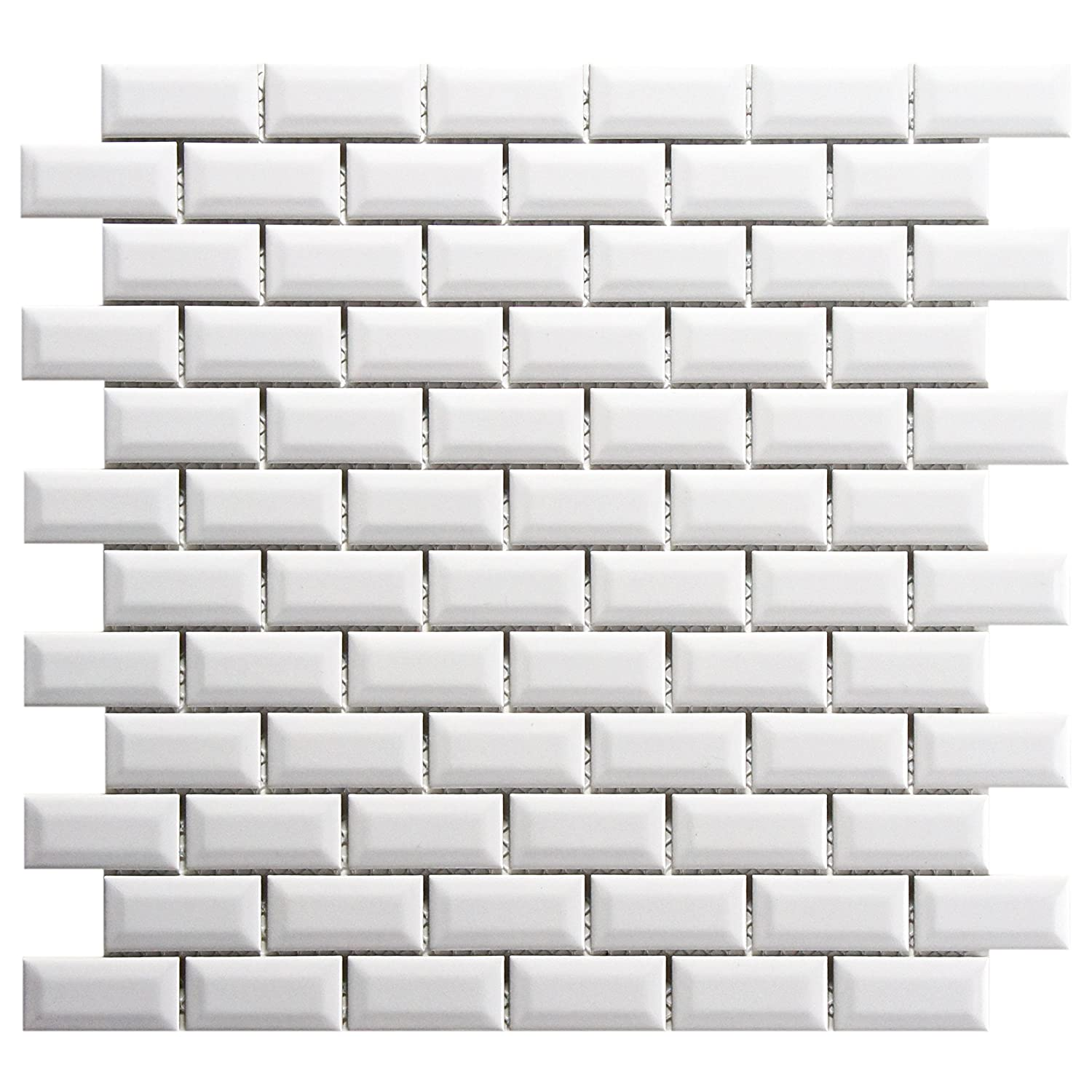 Somertile Fxlmsbgw Retro Subway Beveled Porcelain Floor And Wall