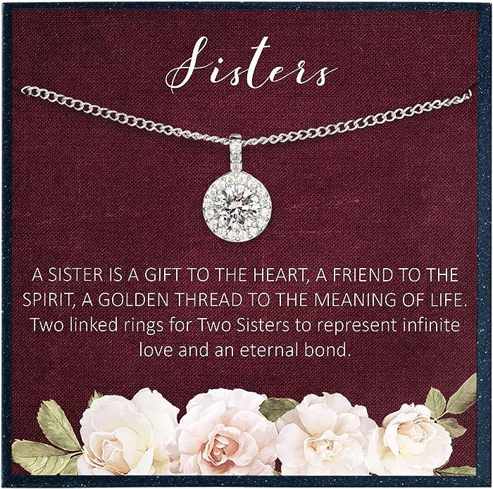 Grace of Pearl Schwestern-Geschenk für Schwester-Halskette