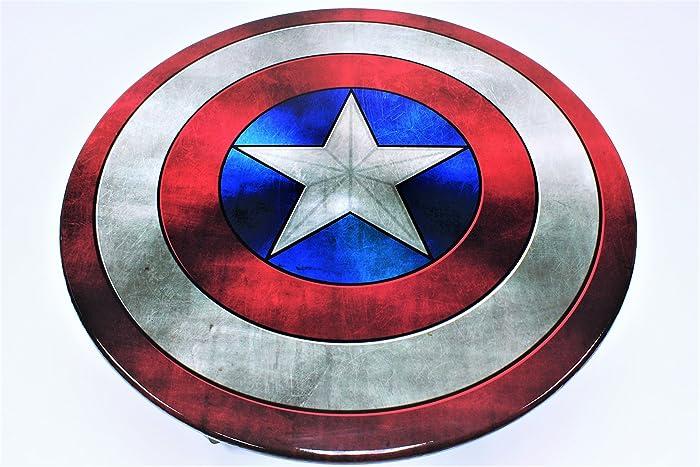Amazoncom Marvel Captain America Shield Table Coffee Table Handmade