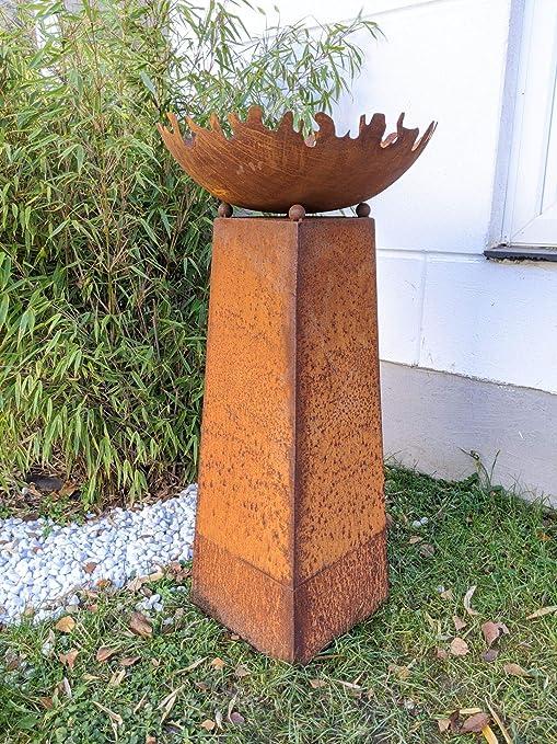 Zen Man - Recipiente para Hoguera (50 cm, 1 mm, con Cono, 80 cm, Metal), diseño de jardín: Amazon.es: Jardín