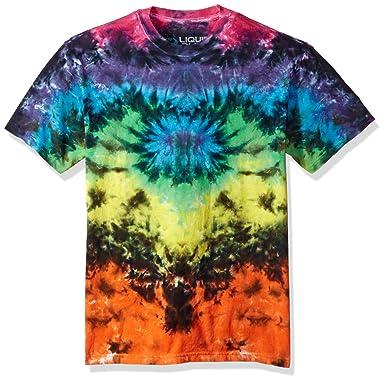 Amazon.com  Liquid Blue Men s Butterfly Krinkle Tie Dye Short Sleeve ... 091548ee1