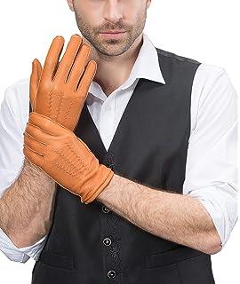 Fr/ühling-Sommer Stetson Convertible Deer Nappa Handschuhe Fingerhandschuhe Biker-Handschuhe Lederhandschuhe Herren