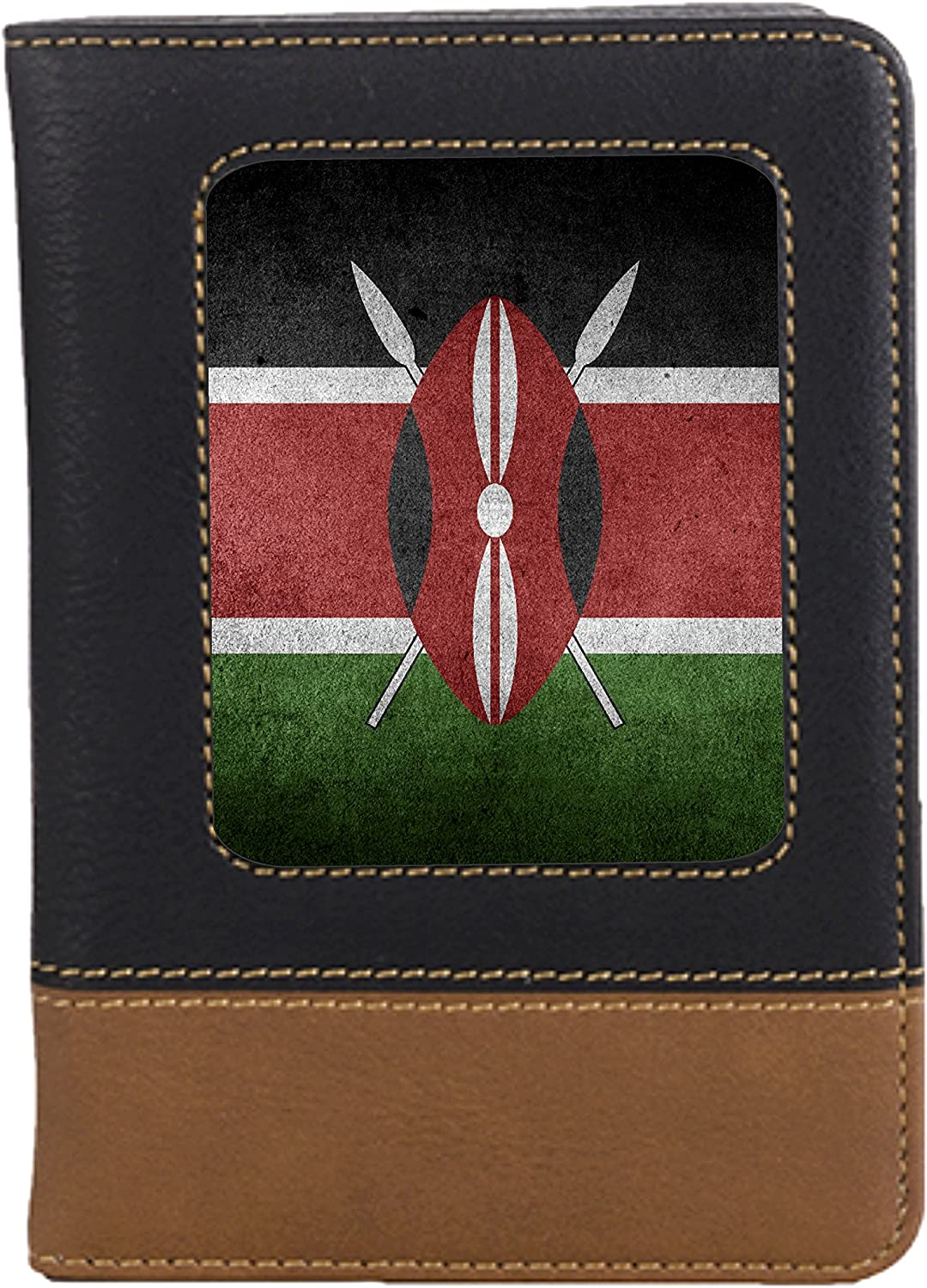 Kenya Flag Leatherette Passport Wallet Style Case Cover For Travel