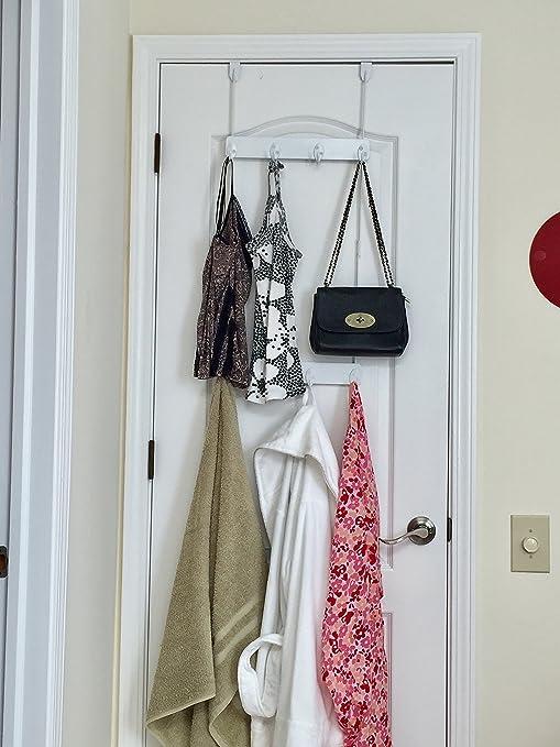 Home Improvement Adjustable Overdoor Strap Hanger Hat Bag Clothes Coat Rack Home Organizer 7 Hooks Home Bathroom Bedroom Supply
