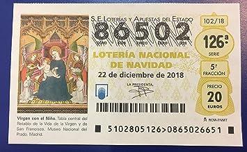 Loteria Navidad 2018 Decimos Para El Sorteo Extraordinario De