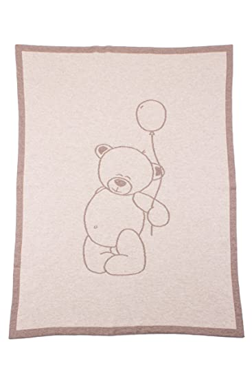 Amazon.com  Love Cashmere Unisex 100% Cashmere Baby Blanket - Teddy Bear -  Natural Multi - made in Scotland  Baby fad562b56