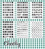 New Bundle of 6 Nail Art Jumbo Image Plates Stamps (X1) 331 Designs by Cheeky®