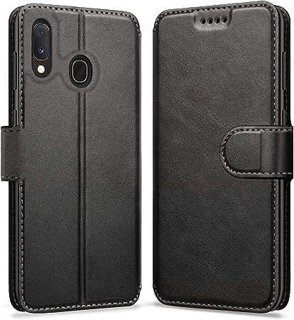 ykooe Funda Samsung Galaxy A20e, Funda Libro de Cuero Magnética Carcasa para Samsung Galaxy A20e (Negro): Amazon.es: Hogar