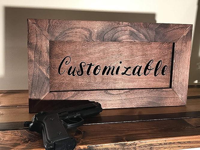 Hidden Gun Storage, Concealed Gun Safe, Secret Compartment Cabinet -  Customizable