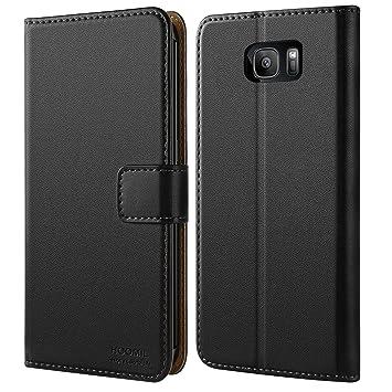 HOOMIL Funda para Samsung Galaxy S7 Edge, Funda de Cuero PU Premium Carcasa para Samsung Galaxy S7 Edge (Negro)