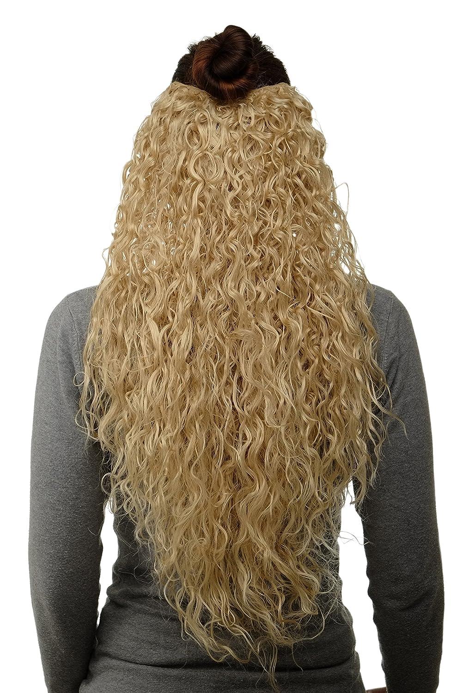 WIG ME UP ® - Toupet- Clip nelle estensioni dei capelli 7 pezzi, Mezza Parrucca Ricci Fitti circa 70 cm lunghezza & 25 cm larghezza Rosso ramato H9311-350 VK Event Fashion