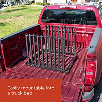 TCP Global 5-Lite Truck Bed Windshield Rack Replacement Windshield Window Holder Safety Rubber Foam Pads Mobile 5 Slot Auto Glass Cargo Protection Management Rack Mast Locks