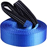 """CARTMAN Heavy Duty Tow Belt 2"""" x 20' 10,000Lbs, Tow Strap with Reinforced Loops"""