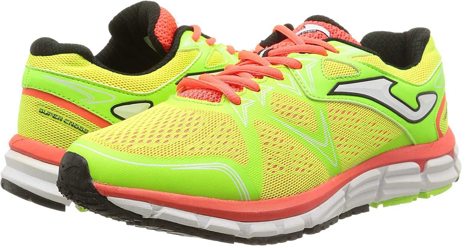 Joma Super CROS - Zapatillas de Running para Hombre, Color Amarillo, Talla 44: Amazon.es: Zapatos y complementos