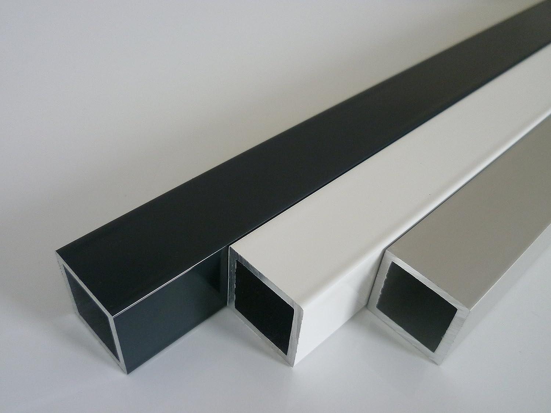 1900 mm +0//- 3 mm B/&T Metall Aluminium Vierkantrohr pulverbeschichtet 50 x 30 x 2 mm ANTHRAZIT RAL 7016 L/änge ca 1,9 mtr.
