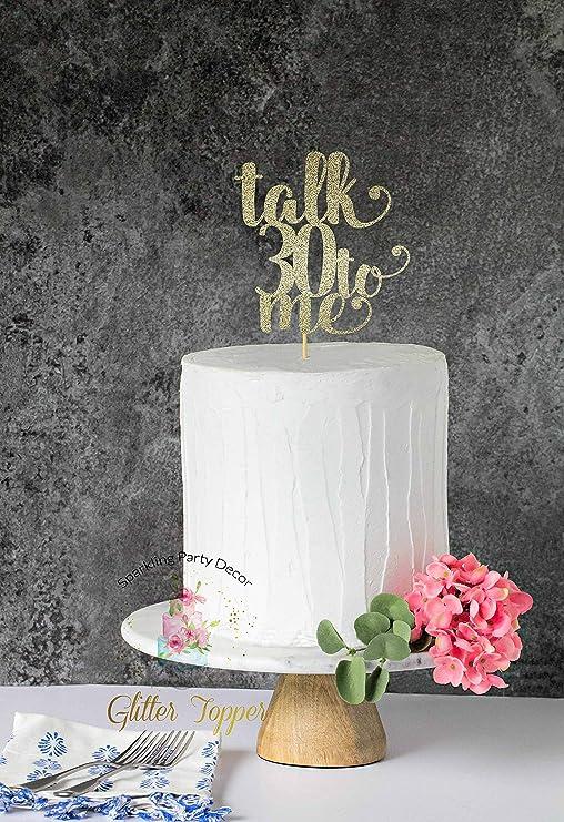 Decoración para tarta de 30 cumpleaños con texto en inglés ...