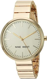 Nine West Womens NW/1986CHGB Gold-Tone Bracelet Watch