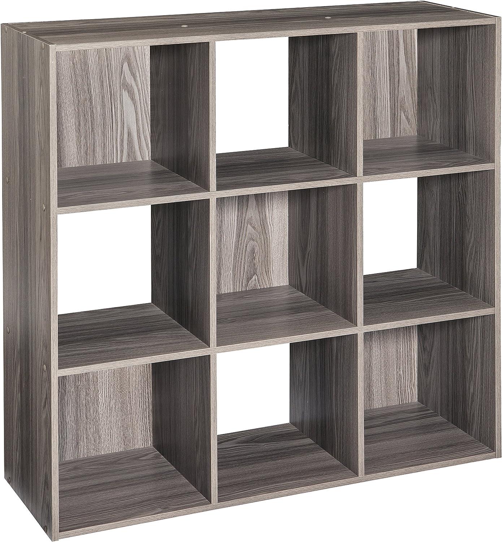 ClosetMaid 4167 Cubeicals Organizer, 9-Cube, Natural Gray