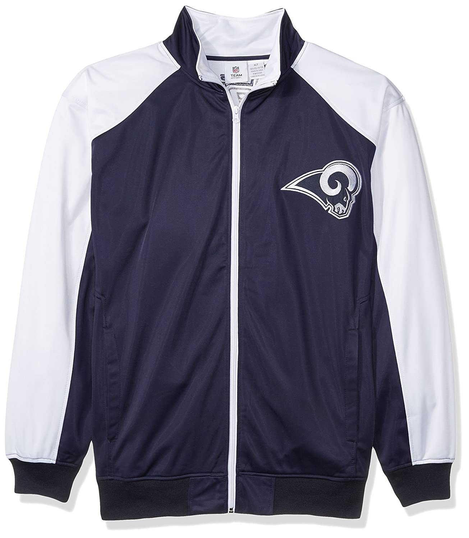 NFL Mens Rams Full Zip Tricot Track Jack
