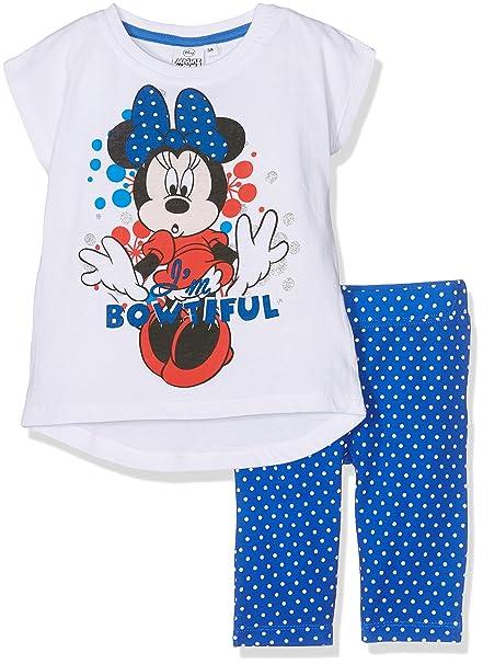 Disney Minnie Mouse, Ropa Interior de Deporte para Niñas, Azul Blue, 5-