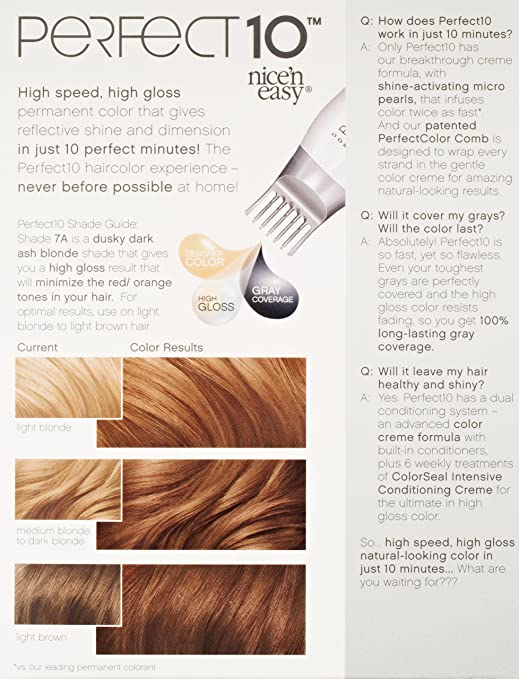 Amazon Clairol Perfect 10 By Nice N Easy Hair Color 7a Dark