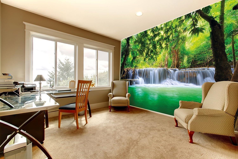 Fotomurales cascata feng shui decorazioni pareti natura giungla ...