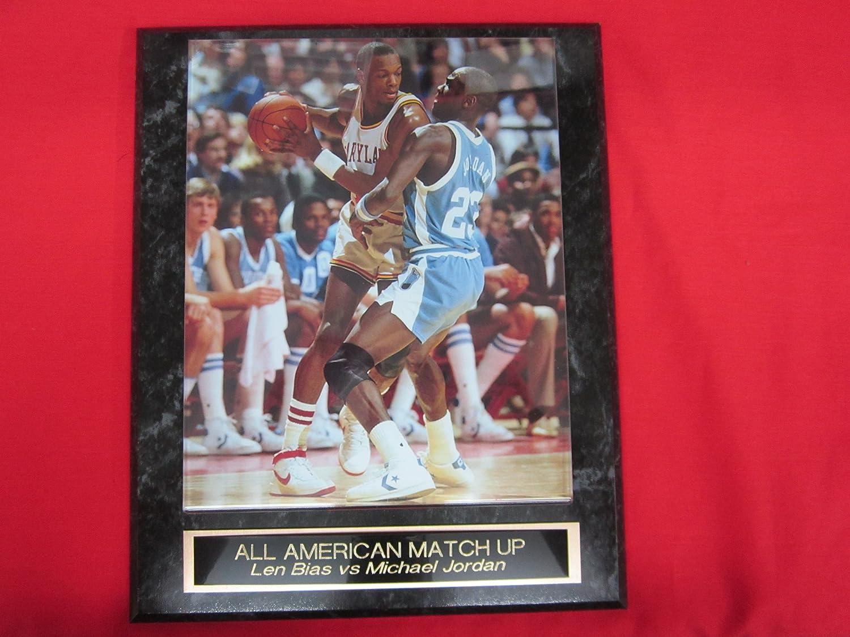 00eeceb1c0c Amazon.com   Michael Jordan vs Len Bias Engraved Collector Plaque w 8x10  RARE NCAA Photo   Sports   Outdoors
