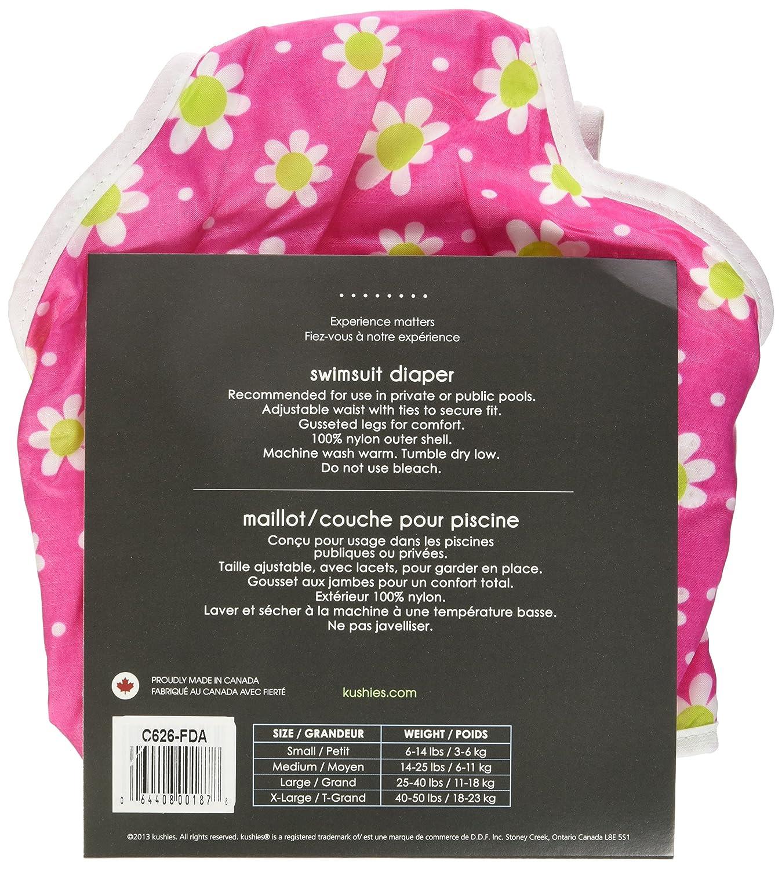 Pink Solid Kushies Swim Diaper Large
