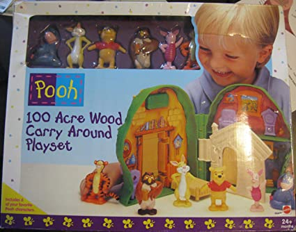 9cf4640077cf Amazon.com  WINNIE THE POOH 100 ACRE WOOD CARRY AROUND PLAYSET WITH ...