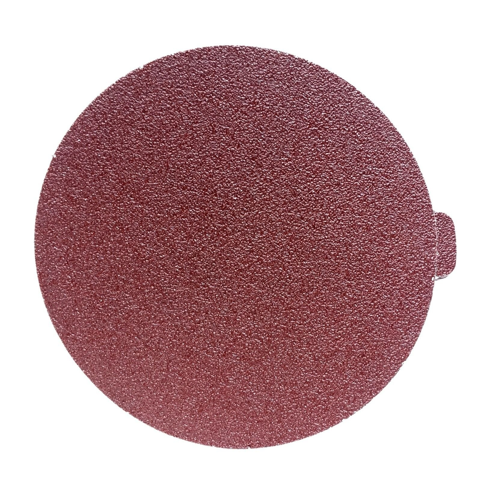 8 Inch Heavy Duty Adhesive Sticky Back Tabbed Sanding Discs (25 Pack, 80 Grit)