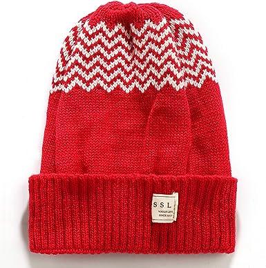 SSLR Big Kids Winter Warm Beanie Hat Plain Knit Skull Cap