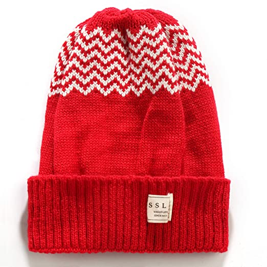319b82e69 Amazon.com: SSLR Big Kids Thermal Cuffed Beanie Knitted Winter Skull ...