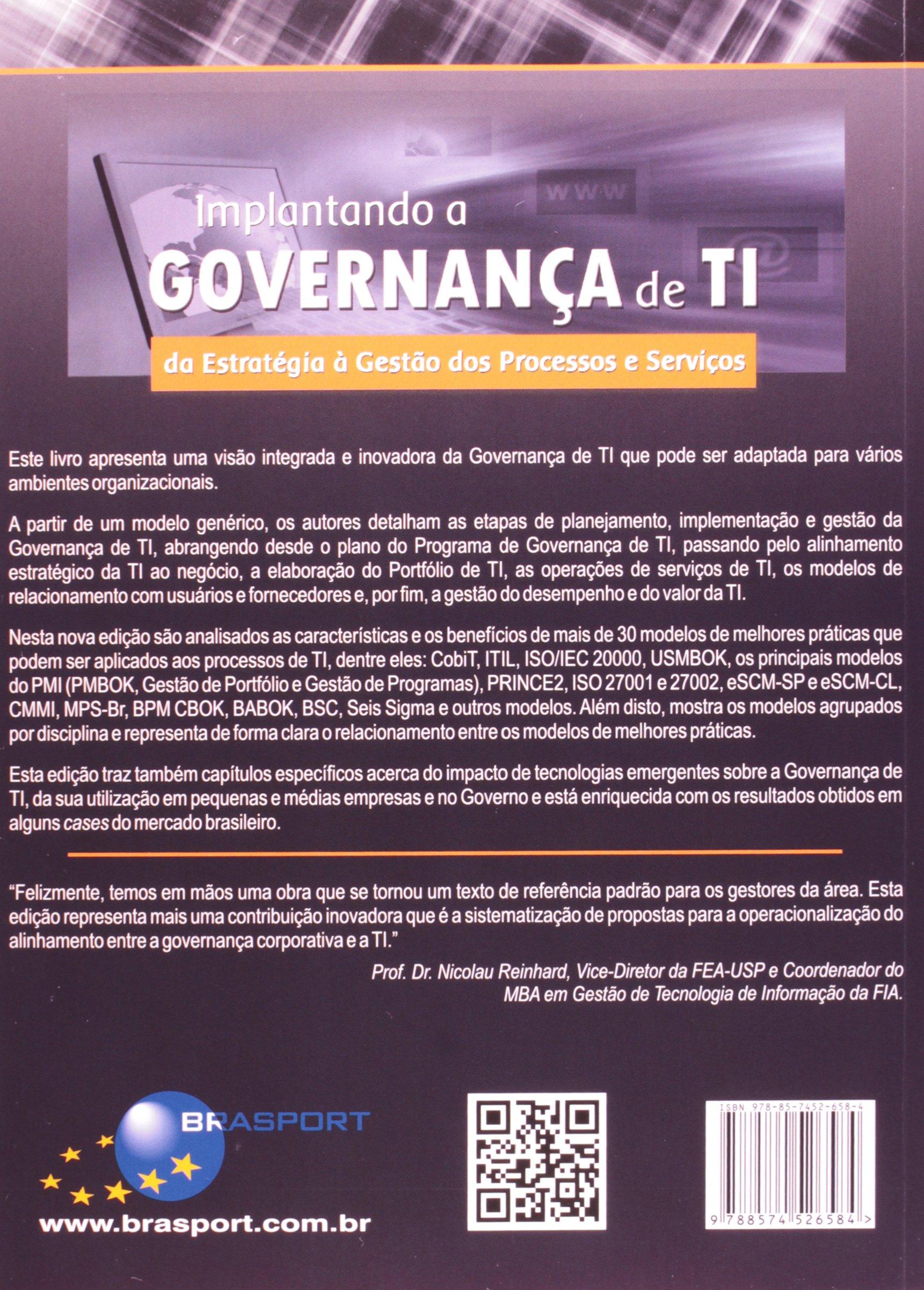 Ebook: implantando a governança de ti da estratégia à gestão dos.