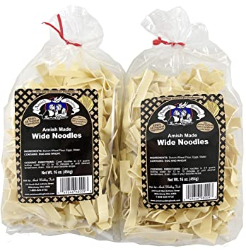 Amish Wedding Foods.Amish Wedding Foods Wide Noodles 16 Ounce Bags No Preservatives Pack Of 2