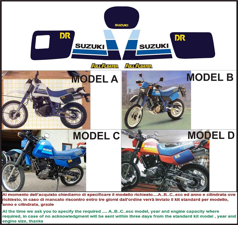 Kit adesivi decal stikers SUZUKI DR 600 1985 S (INDICARE IL MODELLO A o B o C o D) Emanuel & Co SZ22