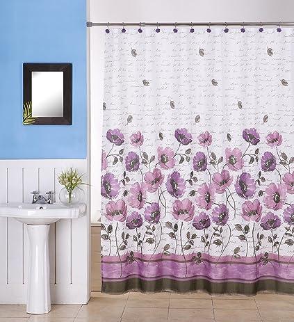 Amazon.com: Luxury Spa 13 Piece Heavyweight Canvas Fabric Shower ...