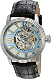 Stuhrling Original Prospero Classic Men's Automatic Watch with Grey Dial Analogue Display and Black Leather Strap 308A.331592