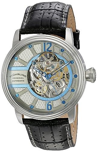 Stührling Original 308A.331592 - Reloj analógico para Hombre, Correa de Cuero, Color Negro: Amazon.es: Relojes