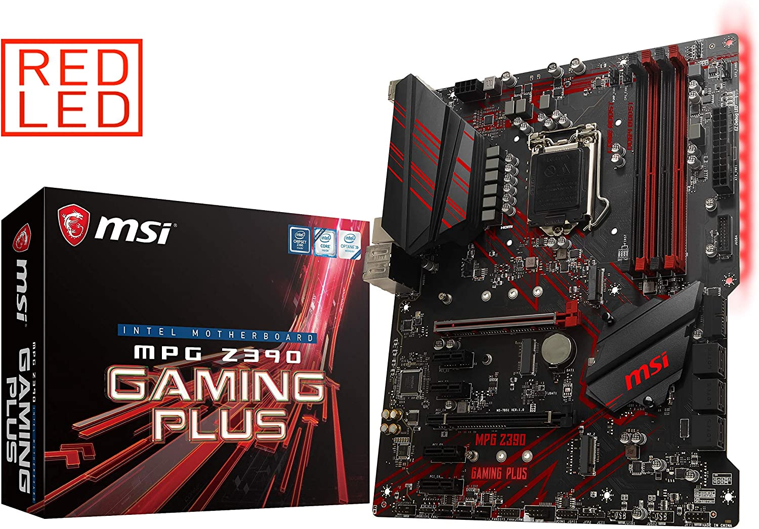 MSI MPG Z390 Gaming Plus LGA1151 (Intel 8th and 9th Gen) M.2 USB 3.1 Gen 2 DDR4 HDMI DVI CFX ATX Z390 Gaming Motherboard (Renewed)