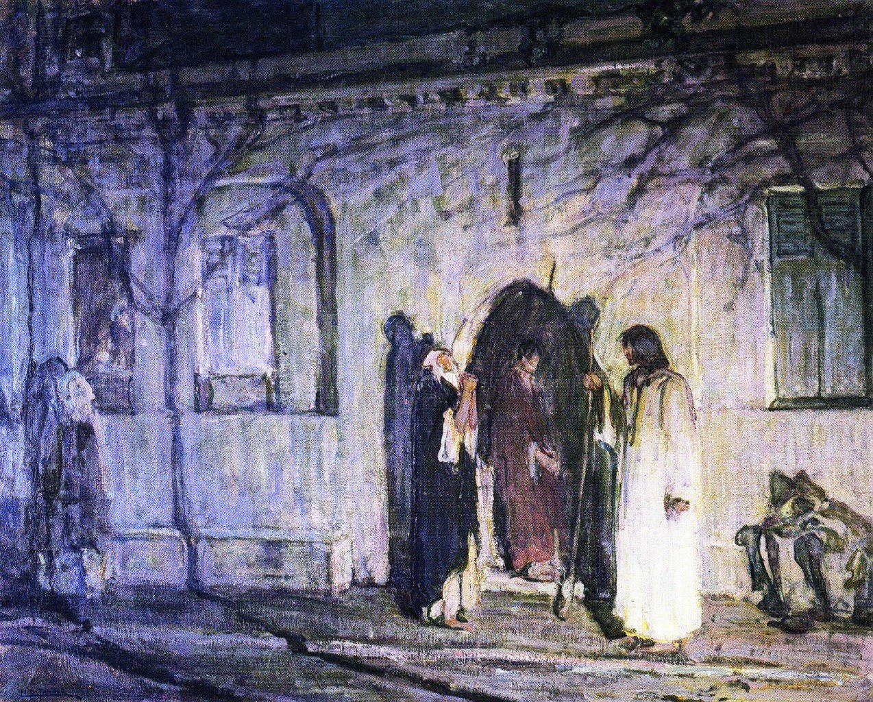 Christ with the Canaanite Woman and Her娘 – by Henry Ossawa Tanner – Unframed 20