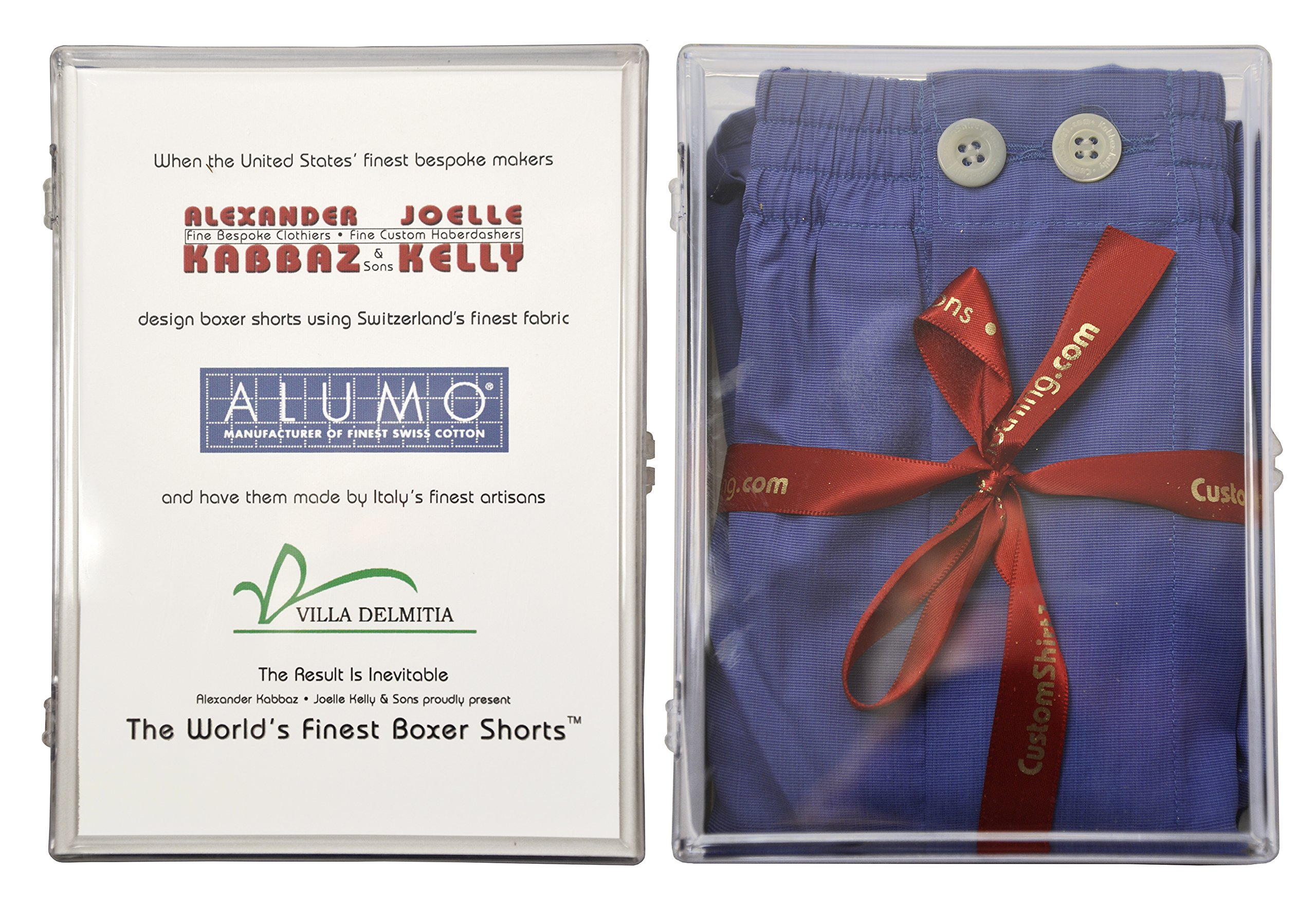 World's Finest Woven Boxer Shorts - 3 Pairs Medium/Blue by Kabbaz-Kelly (Image #3)
