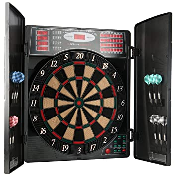 Uitrasport Electronic Dartboard With Doors Classic Darts For 16