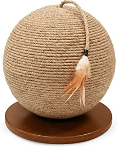 Prevue Pet Products Kitty Power Paws Sphere with Tassel Toy, Natural …