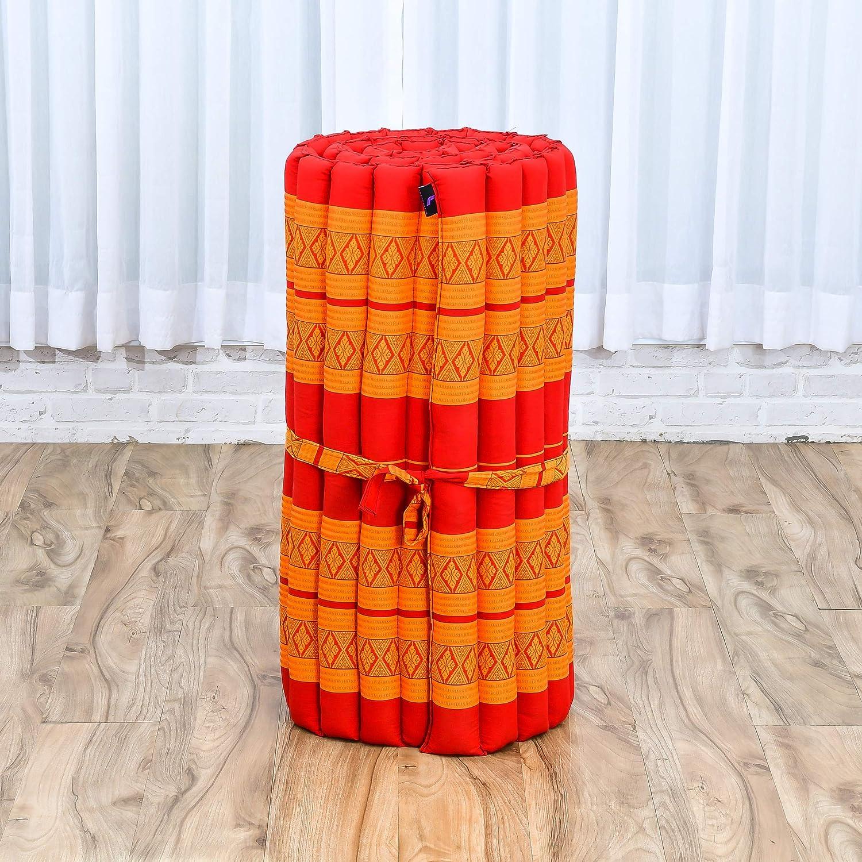 Leewadee Colchoneta Thai Enrollable Colchón De Invitados Esterilla De Yoga Futon Masaje Thai Colchoneta De Dormir Orgánico Naturalmente Ecológico, ...