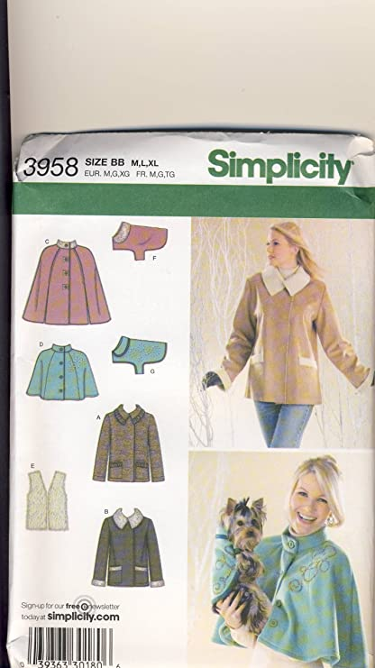 Amazon.com: Simplicity Sewing Pattern 3958 - Use to Make - Misses ...