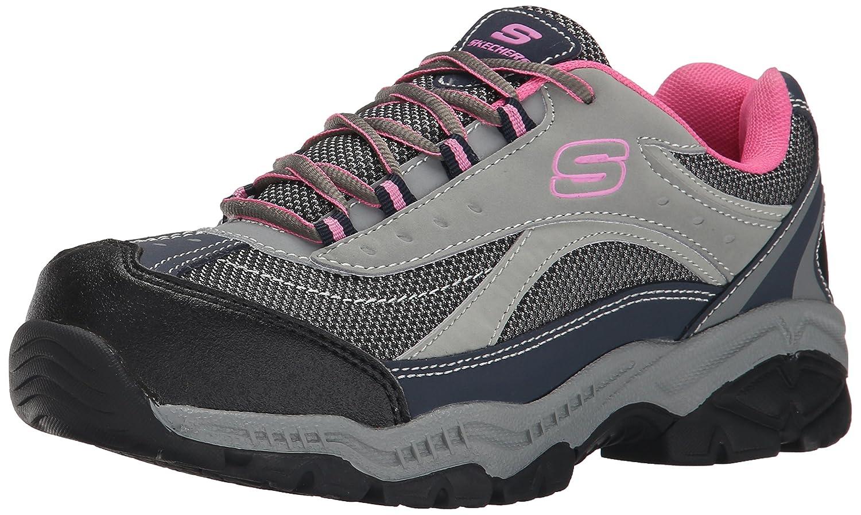 Skechers fAtilde;frac14;r Arbeit Doyline Wanderer Stiefel  41 EU|Gray Pink