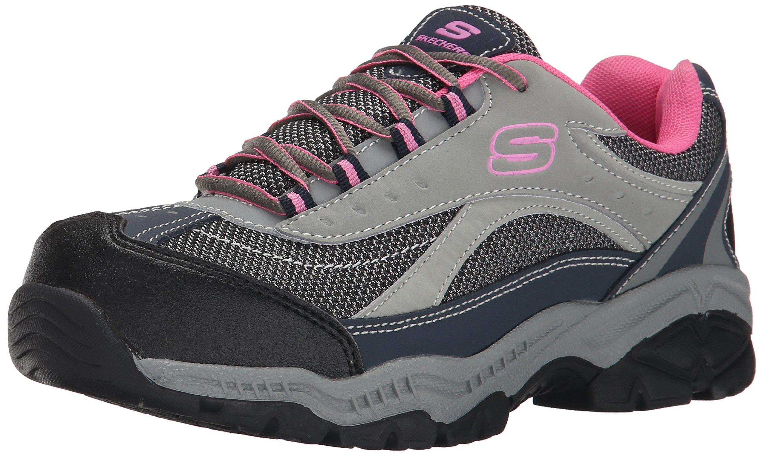 Skechers for Work Women's Doyline Hiker Boot, Gray Pink, 7 M US by Skechers