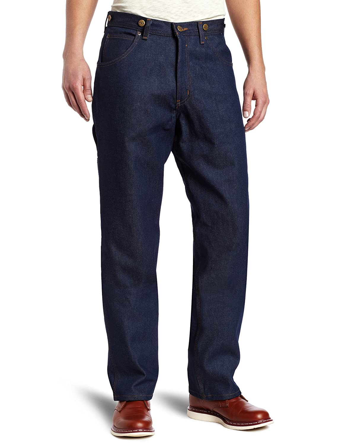 Edwardian Men's Pants, Trousers, Overalls Key Apparel Mens Indigo Denim Logger Dungaree $26.99 AT vintagedancer.com